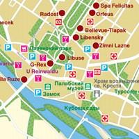 Карта курорта Подебради