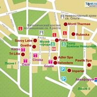 Карта курорта Франтишкове-Лазне