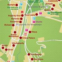 Карта курорта Марианске-Лазне