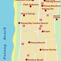 Карта района Патонг (остров Пхукет)