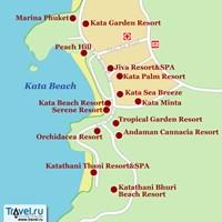 Карта района Ката (остров Пхукет)