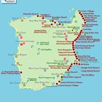 Карта курорта Самуй