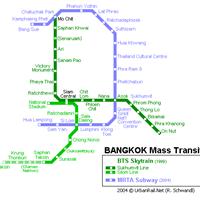 Схема метро в Бангкоке