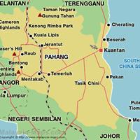 Карта штата Паханг