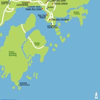 Карта юго-восточного района штата Лангкави