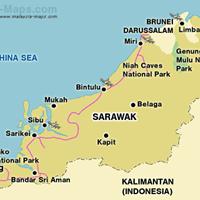 Карта штата Саравак