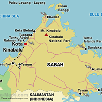 Карта штата Сабах