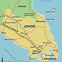 Карта штата Жохор