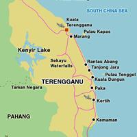 Карта штата Теренгану