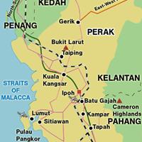 Карта штата Перак