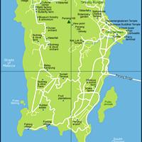 Карта штата Пенанг