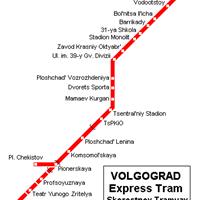 Схема волгоградского метрополитена