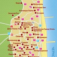 Карта курорта Золотые Пески