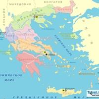 Карта курортов Греции