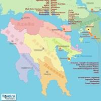 Карта курортов Южной Греции
