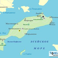Карта острова Кос