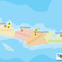 Карта острова Крит