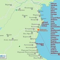 Карта курорта Паралия-Катерини