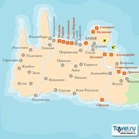 Карта курорта Ханья (остров Крит)