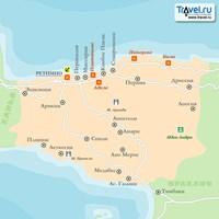 Карта курорта Ретимнон (остров Крит)