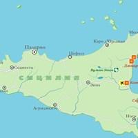 Карта острова Сицилия