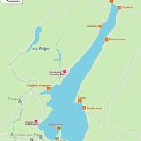 Карта курортов на озере Гарда