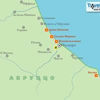 Карта курортов Абруццо