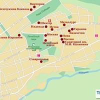 Карта курорта Ессентуки