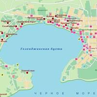 Карта побережья Геленджикской бухты