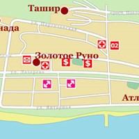 Карта курорта Лазаревское