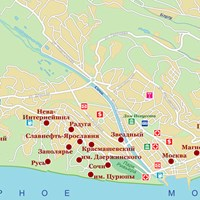 Карта курорта Сочи