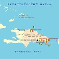 Карта Доминиканы