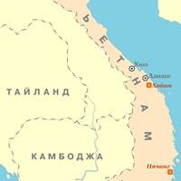 Карта курортов Вьетнама