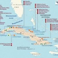 Карта курортов Кубы