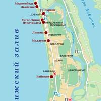 Карта курорта Юрмала