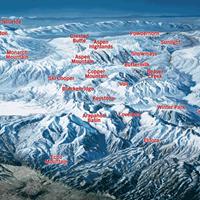 Карта горнолыжных курортов штата Колорадо