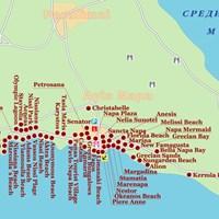 Карта курорта Айя-Напа