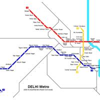 Схема метро в Нью-Дели