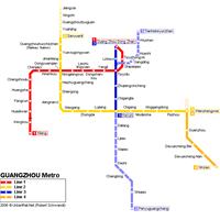 Схема метро в Гуаньчжоу