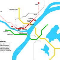 Схема метро в Вухане
