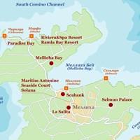Карта курортов северной Мальты