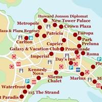 Карта курорта Слима