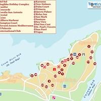 Карта курорта Буджибба