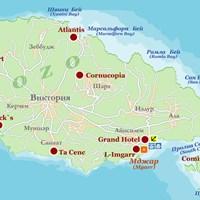 Карта островов Гозо и Комино