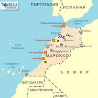 Карта курортов Марокко