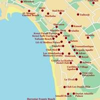 Карта курорта Агадир