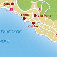 Карта курорта Герцег Нови