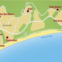 Карта курорта Бечичи