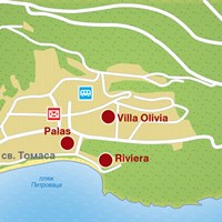 Карта курорта Петровац