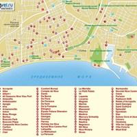 Карта курорта Ницца